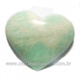 Coraçao Amazonita Verde Natural Ideal P/ Presente Cod 118249