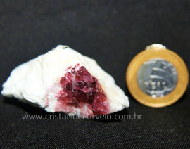 Turmalina Melancia Pedra Incrustado Quartzo Bruto Cod 106159