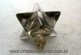 Merkabah Pedra Cristal Quartzo Fume Boa Transparencia Lapidação Vibrador