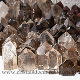 05 kg Fumê Cristal Gerador Pontas Lapidado COMUM  Pedras de Garimpo ATACADO