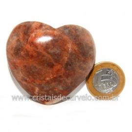 Coração Amazonita Pêssego Pedra Natural de Garimpo Cod 119050