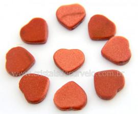 10 Coração Pedra do Sol Ranhurado Pra Montagem REFF CR7748