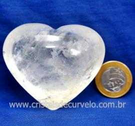 Coração Cristal Comum Qualidade Natural Garimpo Cod 127988