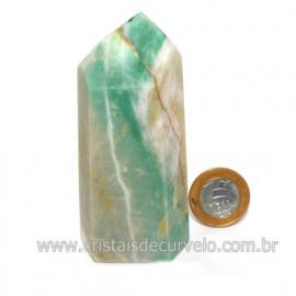 Ponta Jade Verde Lapidado Pedra Natural de Garimpo Cod 121204