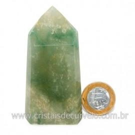 Ponta Pedra Onix Verde Lapidação Gerador Sextavado Cod 128681