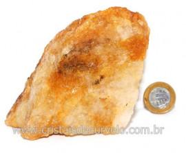 Hematoide Amarelo Pedra Bruto Quartzo Natural Cod 121525