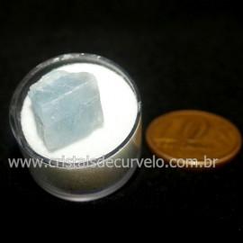 Calcita Azul do Mexico no Estojo Pedra Natural Cod 126651