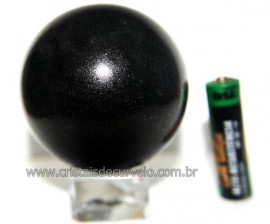 Esfera Pedra Quartzo Preto ou Quartzito Natural Cod BP4058