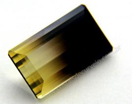 Gema Quartzo Bi Color Pedra Natural Montagem Joia Cod QB9328