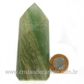 Ponta Pedra Onix Verde Lapidação Gerador Sextavado Cod 128682