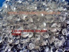 1 kg Cristal Rolado Pequeno Quartzo Hialino ExtraTransparencia REF 215445
