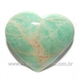 Coraçao Amazonita Verde Natural Ideal P/ Presente Cod 118248
