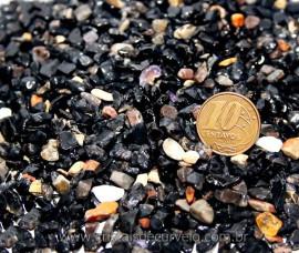 Onix Preto Pedra Rolada Miúdo Pct 500Gr Boa Cor Reff RM2600
