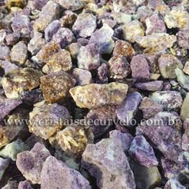 1kg Lepidolita Mica Bruta cascalho Sem Lapidar Pedra pra Orgonite