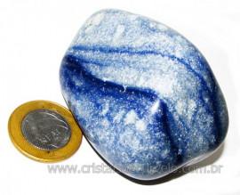 Massageador De Seixo Pedra Quartzo Azul Natural Cod 106009