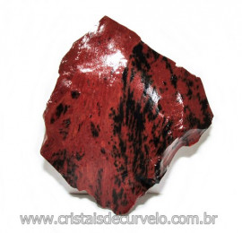 Obsidiana Mogno ou Mahogany Pedra Bruta Vulcanica Cod 115826