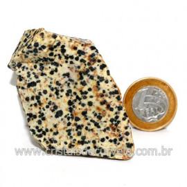 Jaspe Dalmata Pedra Natural Mineral de Esoterismo Cod123297