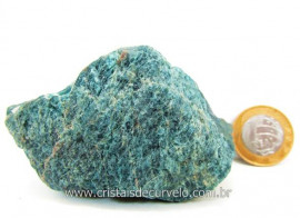 Apatita Azul Em Bruto Pedra Media  Para Esoterico ou Colecionador Cod 267.7