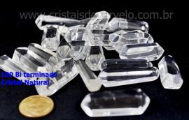 100 Bi Terminado QUARTZO CRISTAL Pedra Extra Lapidado Bi Ponta Tamanho 2.5  Cm