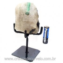 Esmeralda Canudo Pedra Natural com Suporte De Ferro Cod 121533