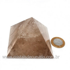 Pirâmide Fumê Pedra Baseada Nas Medidas da Quéops Cod 119015