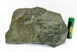 Basalto Verde Bruto Pedra Pra Colecionador ou Estudante de Minerais Geologia Cod 518.0