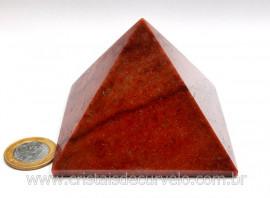 Piramide Quartzo Vermelho Baseada Queops Pedra Comum Lapidado Manual Cod 496.2