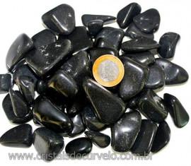 1kg Quartzo Preto Natural Rolado Tamanho Grande Reff 109403