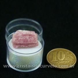 Turmalina Rosa Bruta Pedra Natural No Estojo Cod 126955