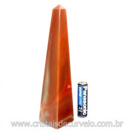 Obelisco Agata Cornalina Pedra Natural Lapidado Cod 118901