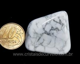 01 Howlita Rolado Pedra Natural de Garimpo Esoterismo Colecionador Ref 19.8