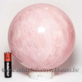 Bola Grande Pedra Quartzo Rosa Natural 2.9kg cod 125475