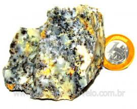 Calcedonia Com Dendrita Pedra Natural Pra Coleção Cod CD2002