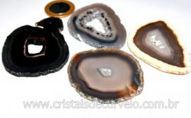 Chapa de Agata Natural Para Porta Copos Ou Montagem de Artesanato Tamanho M Reff 177.5