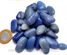 Quartzo Azul Rolado Médio Pct 200Gr Boa Cor Azul Reff 106742