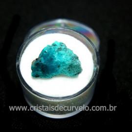 Crisocola Bruto Lasca No Estojo Mineral Natural Cod 118519