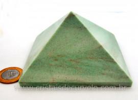 Piramide Quartzo Verde Baseada Queops Pedra Comum Lapidado Manual Cod 674.1