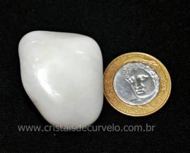 01 Quartzo Leitoso Pedra Rolado Natural de Garimpo Reff PU6783