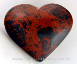 Coração Obsidiana Mahogany ou Mogno Mineral Lava Vulcanica Colecionar Cod 138.4