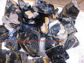 ONIX PRETO Pedra Bruto Pra Lapidar Pacote Atacado 5 kg