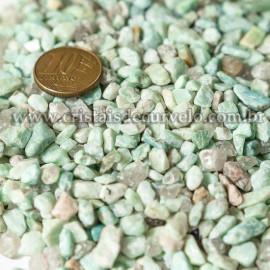 Amazonita Rolado pra Orgonite 500gr 04 mm Aprox