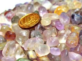 1kg Ametista Rolado Miudo Pedra comum Reff AM7876