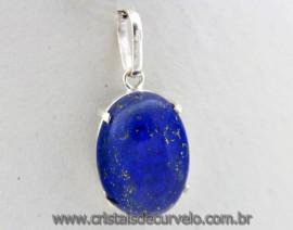 Pingente Lapis Lazuli Cabochon Pedra Natural Prata 950 Cachinha e Garras Reforçado