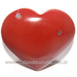 Coraçao Jaspe Vermelho Pedra Natural de Garimpo Cod 118260
