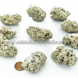 05 Pirita Peruana 55mm Pedra Bruta Natural P/ Orgonite ATACADO