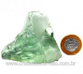 Obsidiana Verde Pedra Vulcanica Ideal P/ Coleçao Cod 119718