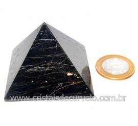 Pirâmide Turmalina Preta Natural Baseada Quéops Cod 119516
