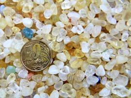Citrino Bombardeado Miudo Pedra Rolado Pacotinho 20 Gr Mineral Natural