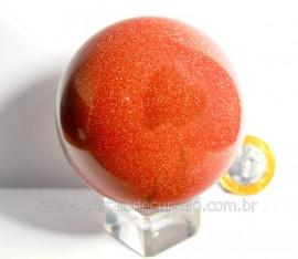 Esfera Pedra Do Sol Pigmento Ouro Cintilante Cod PS6414