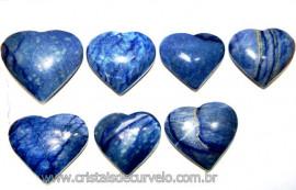20 Coração Pedra Quartzo Azul Natural 4.7 a 6.5cm ATACADO